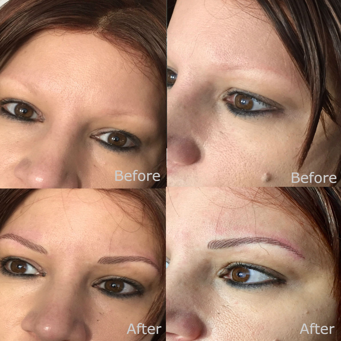 nft beauty natural brows before and after d