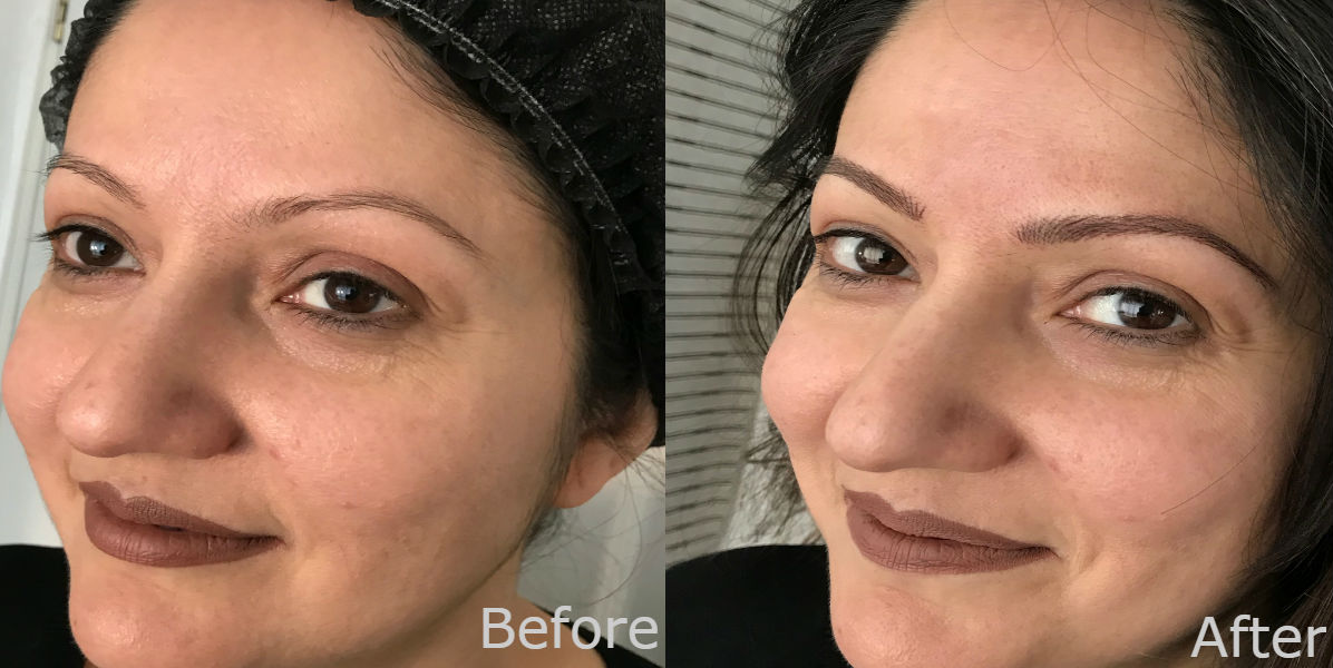 nft beauty natural brows before and after
