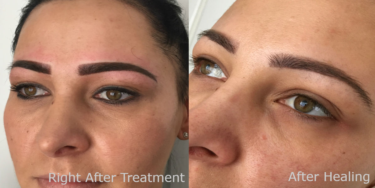 nft beauty ombre brows before and after e