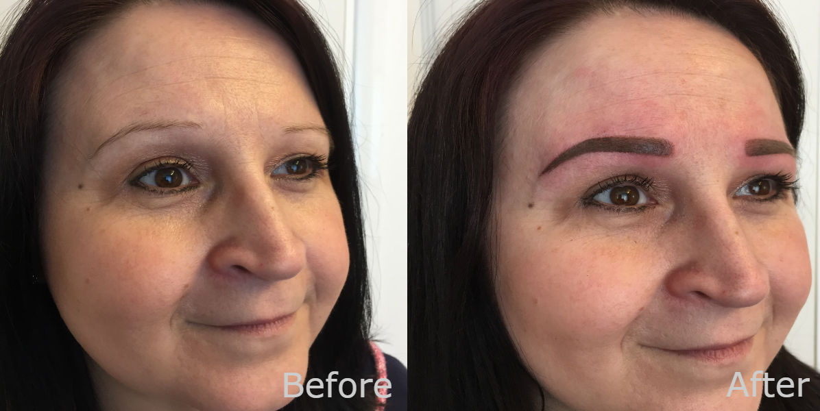 nft beauty ombre brows before and after